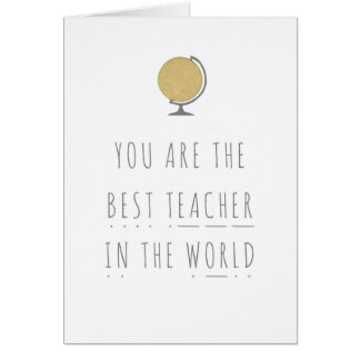 Best Teacher In The World Phonics Greeting Card