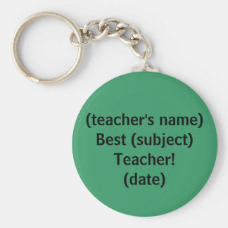 Best Teacher! - keychain