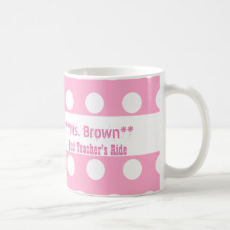Best TEACHER'S AIDE Pink Polka Dots A12 Coffee Mug