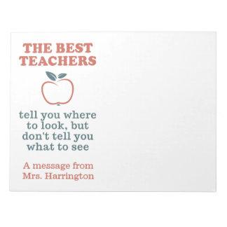 BEST TEACHERS custom name notepads