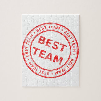 Best Team stamp - prize, first, champion,trophy Jigsaw Puzzle