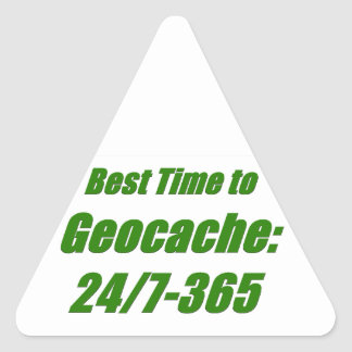 Best Time to Geocache Triangle Sticker