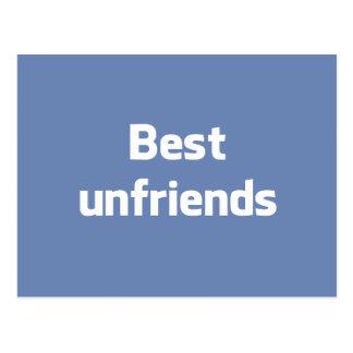 Best Unfriends Postcard