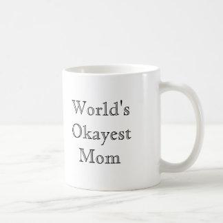 [Best Value] World's Okayest Mom Basic White Mug