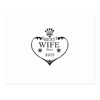 Best Wife Since 2015 2nd wedding anniversary gifts Postcard