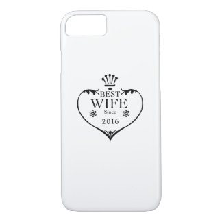 Best Wife Since 2016 1st wedding anniversary gifts iPhone 8/7 Case