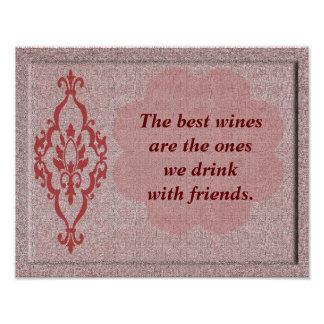 Best wines - art print