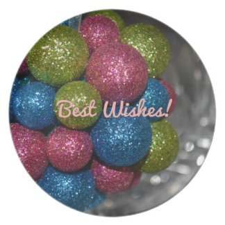 Best Wishes Christmas Decorations Plate