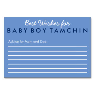 Best Wishes for Baby Advice Card