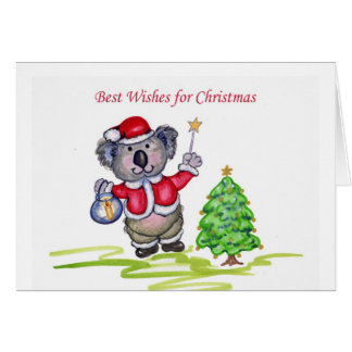 Best Wishes for Christmas Greeting Card