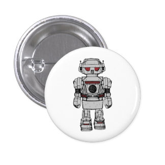 Best Wishes From Atomic Powered Toy Robot 3 Cm Round Badge
