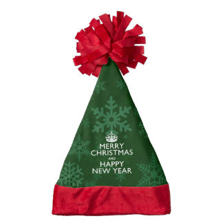 Best Wishes on Keep Calm Crown Snowflakes Santa Hat