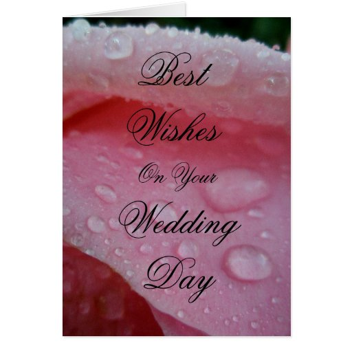 Best wishes on your wedding day greeting cards