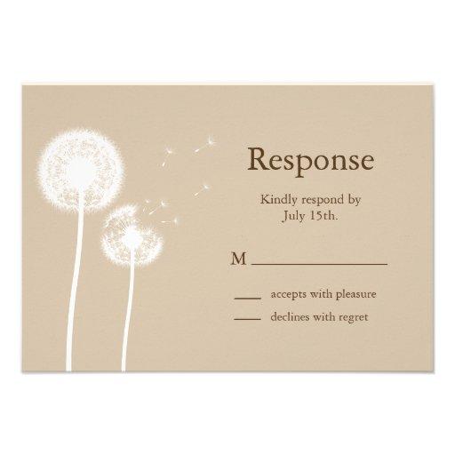 Best Wishes! RSVP (brown) Invite