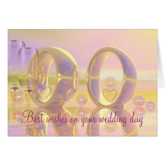 Best wishes wedding day card