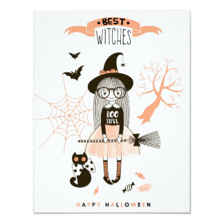 Best Witches Happy Halloween Card