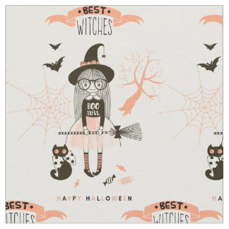 Best Witches Happy Halloween Fabric