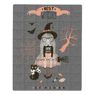 Best Witches Happy Halloween Jigsaw Puzzle