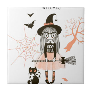 Best Witches Happy Halloween Tile