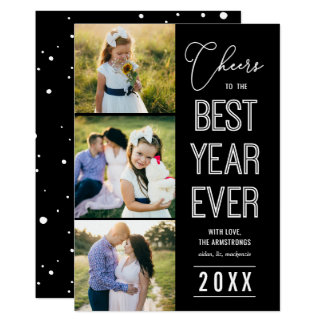 Best Year Ever EDITABLE COLOR New Year Photo Card