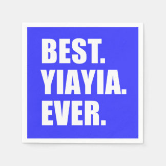 Best YiaYia Ever Greek Grandmother Party Disposable Napkin