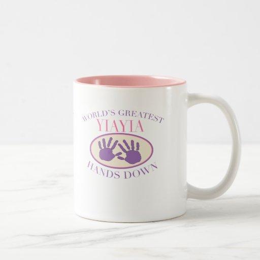 Best YiaYia Hands Down T-shirt Mugs