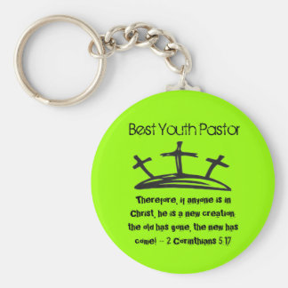 Best Youth Pastor Basic Round Button Key Ring