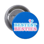 BESTEST BESTIES with cute hearts BFF best friends 6 Cm Round Badge
