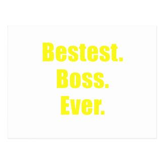 Bestest Boss Ever Postcard
