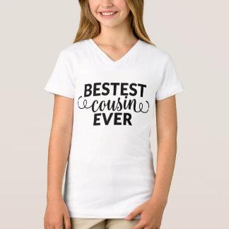 Bestest Cousin Ever Girls Shirt with Swirls