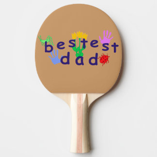 Bestest Dad Ping Pong Paddle
