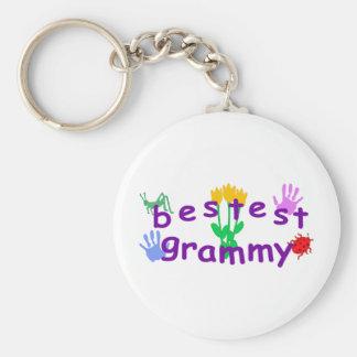 Bestest Grammy Basic Round Button Key Ring