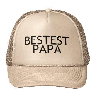 Bestest Papa Trucker Hats
