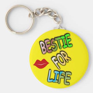 Bestie for Life Basic Button Keychain