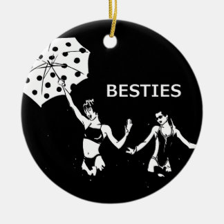 Besties Best Friends on the Beach Ceramic Ornament