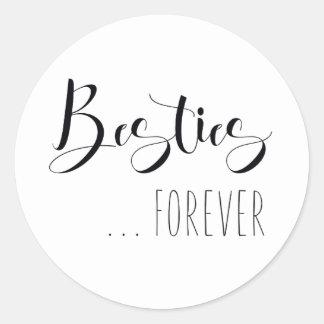 """Besties Forever"" Friend Classic Round Sticker"