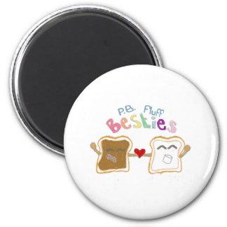 besties peanut butter fluff 6 cm round magnet