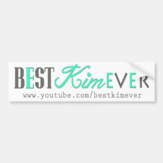 bestKIMever promo Bumper Sticker