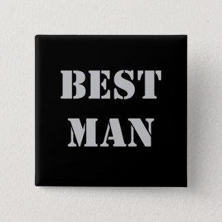 BestMan 15 Cm Square Badge