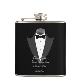 BESTMAN Gift Personalized Flask Father Bride Groom