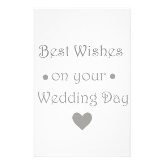 Bestwishes wedding day customized stationery
