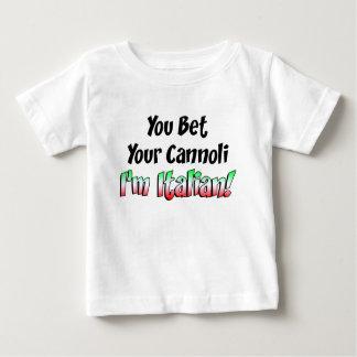Bet Your Cannoli Italian Baby T-Shirt