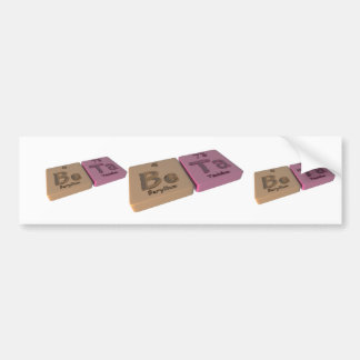 Beta  as Be Beryllium and Ta Tantalum Bumper Sticker