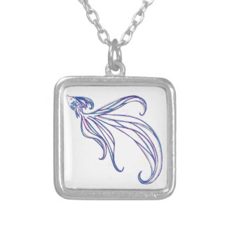 Beta Fish Silver Plated Necklace