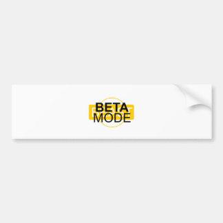 Beta mode bumper sticker