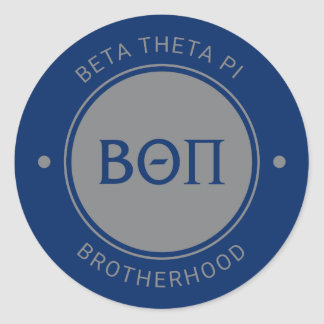 Beta Theta Pi | Badge Classic Round Sticker