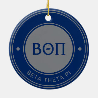 Beta Theta Pi | Badge Round Ceramic Decoration