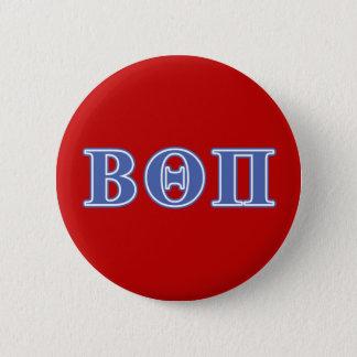 Beta Theta Pi Blue Letters 6 Cm Round Badge