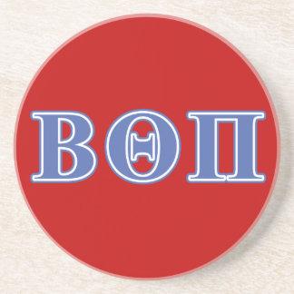 Beta Theta Pi Blue Letters Drink Coaster