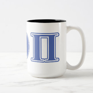 Beta Theta Pi Blue Letters Coffee Mugs